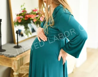 Lifted Labor/Postpartum Gown & Swaddle Set