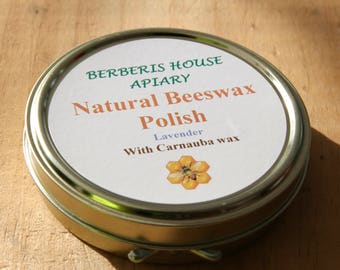 Natural Beeswax Furniture Polish, a traditional polish with pure turpentine, but very easy to use.