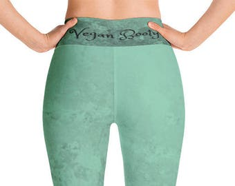 Vegan Booty Green Yoga Leggings