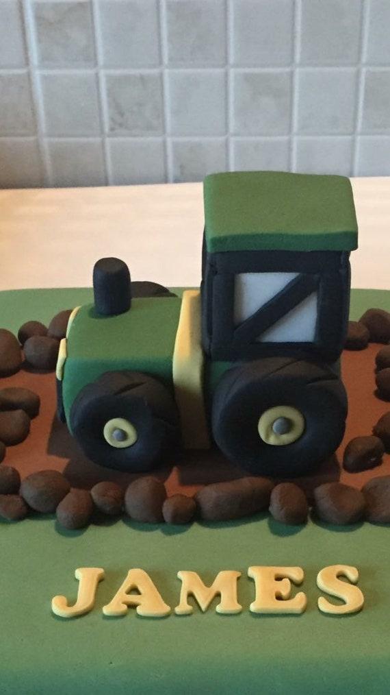 Traktor Kuchen Deckel Dekoration