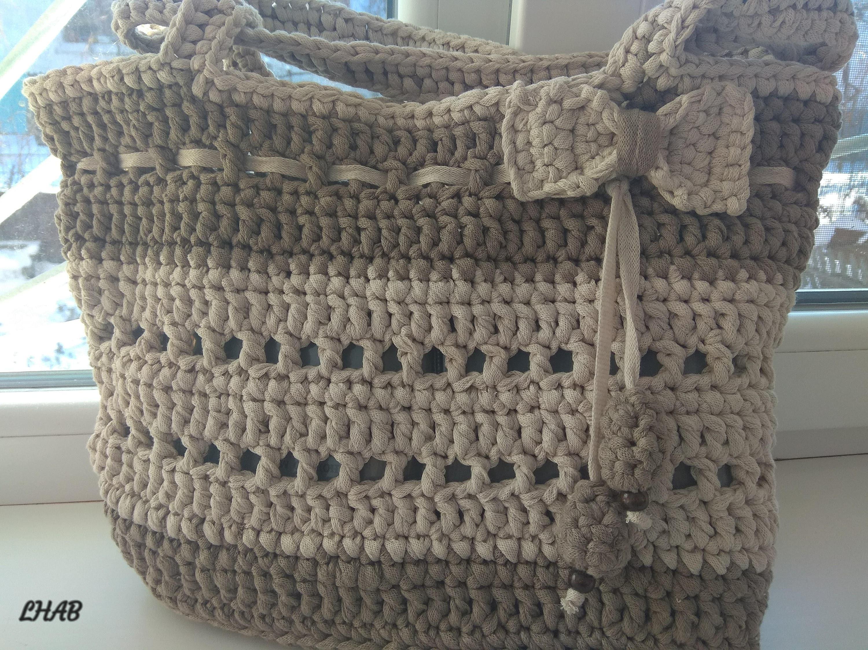 Gehäkelte Tasche Muster häkeln Tasche Frauen Tasche Sommer