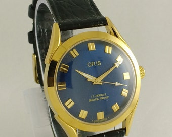 305282f62000 VINTAGE ORIS Mechanical Winding 17jewels Mens Watch Swiss Made