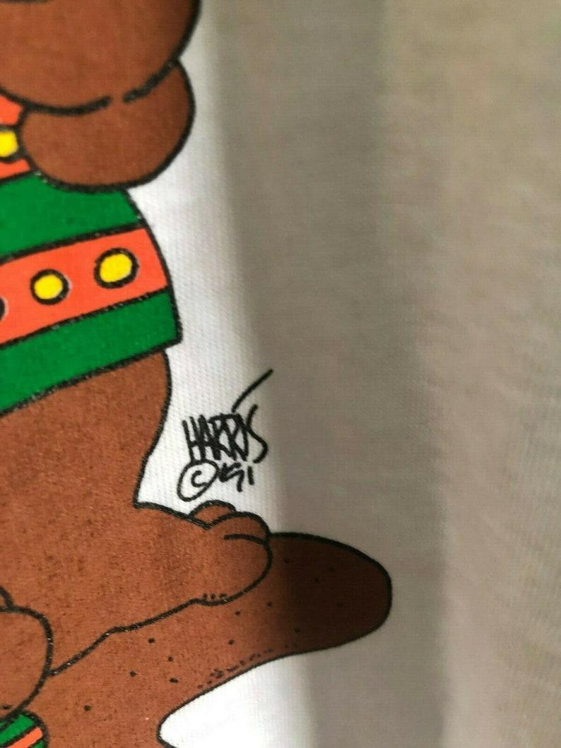 Hugger sleep shirt Vtg 90\u2019s Christmas bears penquin Share the Warmth One Size