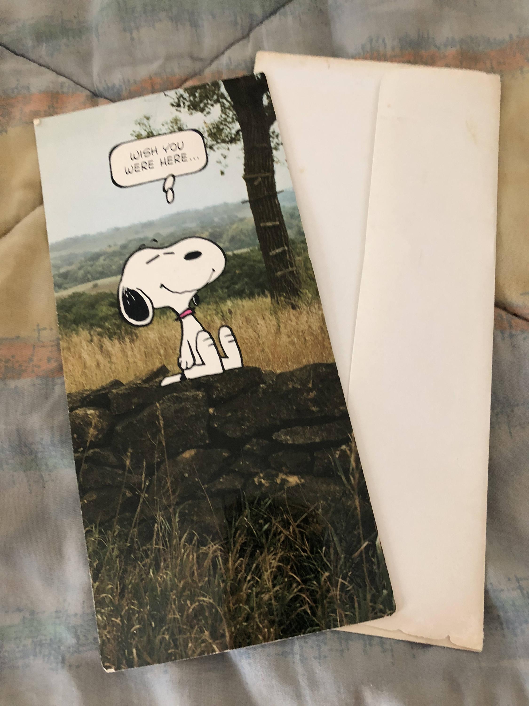 Vtg Snoopy Peanuts Hallmark Greeting Card Unused W Envelope Etsy