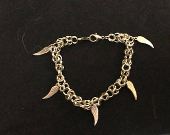 Byzantine Chainmaille Wing Charm Bracelet