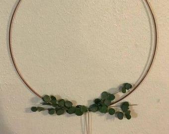 Minimalist Copper Hoop Wreaths