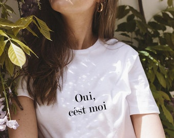 Oui, cest moi T-shirt XS-2XL shirt short sleeve casual letter print french slogan tee blouse summer ladies tops fashion womens clothes gift
