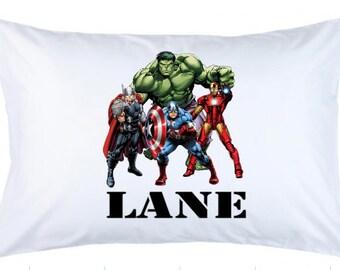 Personalized Superhero Pillowcase Super Hero \u2022 Custom Pillow Case Cover Standard 20x30 \u2022 Birthday Gift Kids Children Girl Boy
