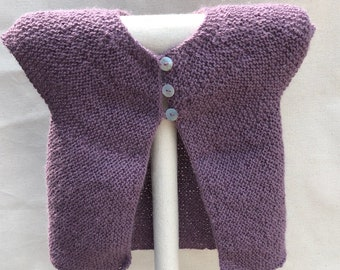 Baby girl cardigan/sweater. Hand knitted baby clothes. Knitted cardigan. Baby shower gift Baby Short Sleeve baby cardigan - 3-6 months
