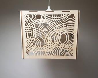 Moderne Lampen 19 : Dekorative deckenleuchte holz lampenschirm moderne lampe etsy