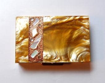 Retro Flair Fifth Avenue Resin and Mother of Pearl Keepsake Box