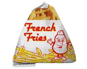 French fry guy coin bag