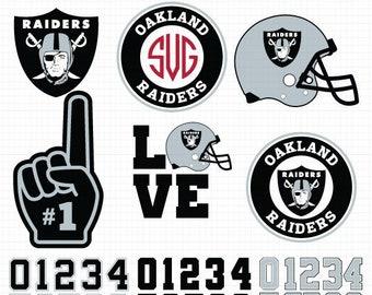 Oakland Raiders SVG File, American Football, Football Svg files, Cricut, Silhouette Cut File, Vector Cut File, Logo, Instant Download