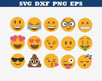 Emoji Svg,Emoji Collection Svg,Emoji Svg files,Emoji clipart,Smiley faces,Emojis cut files,Printable emoji,Smiley Svg,Emoji Svg bundle