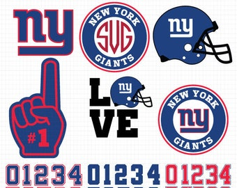 New York Giants SVG File, American Football, Football Svg files, Cricut, Silhouette Cut File, Vector Cut File, Logo, Instant Download
