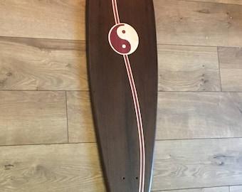 Solid Peruvian Walnut Long Board