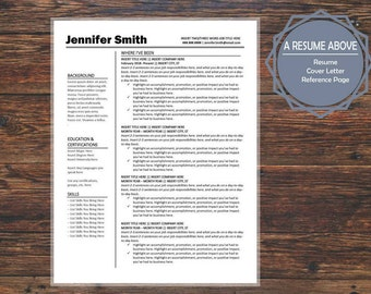 sophisticated resume etsy