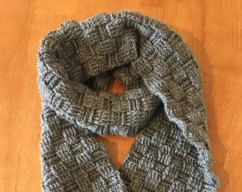 Checked Texture Scarf