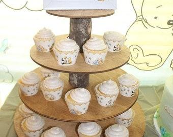 Classic Winnie The Pooh, White Winnie the Pooh cupcake wrapper, Winnie the Pooh Cupcake Wrapper, Classic Pooh
