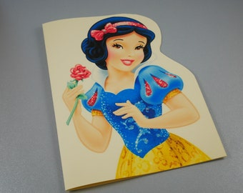 SNOW WHITE PERSONALISED HANDMADE CARD INSIDE OUTSIDE BIRTHDAY ANNIVERSARY OPEN