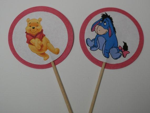 Verkauf Satz Von 12 Kuchen Tipps Winnie The Pooh Baby Dusche Etsy