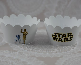 Star Wars party,Star Wars birthday decorations,Star Wars Cupcake Wrapper, Star Wars birthday themed ,Set of 12