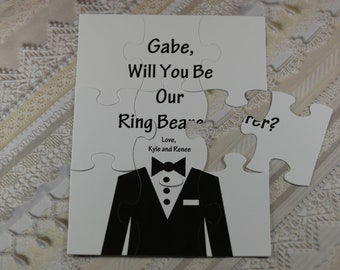 Ring Bearer Proposal, Will You Be Our Ring Bearer, Personalized Ring Bearer, Puzzle Ring Bearer ,Puzzle Page Boy ,Puzzle Junior Groomsman