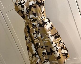 Cotton camo skater dress