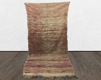 Morrocan Berber Purple rug, 3x8 vintage rug runner, Morrocan rug, Boujaad runner rug, Berber rug