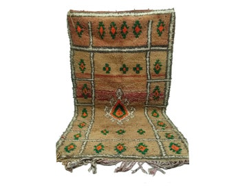 Moroccan Area Rug 4x7, Colorful berber rug Vintage, Morrocan woven rug, wool rug, boucherouite tribal rug, bathroom rugs, moroccan boho rugs