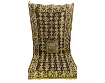 Moroccan Area Rug 5x9, Colorful berber rug Vintage, Morrocan woven rug, wool rug, boucherouite tribal rug, bathroom rugs, moroccan boho rugs