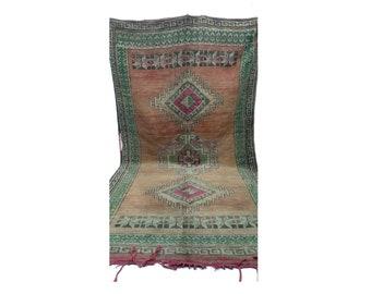 Moroccan rug 6x12, azilal Berber Rug, large rug vintage, large woven vintage rug, Boucherouite rug, vintage moroccan rugs, vintage area rugs