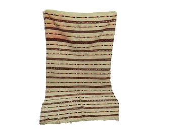 Moroccan berber vintage wool blanket 5x8 ft, morrocan azilal boho woven blankets.
