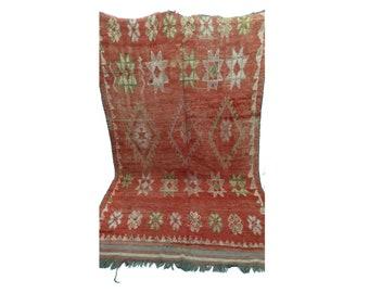 Moroccan rug 6x10, azilal Berber Rug, large rug vintage, large woven vintage rug, Boucherouite rug, vintage moroccan rugs, vintage area rugs