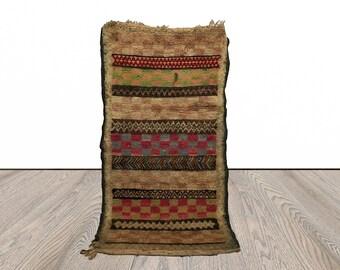 Moroccan Berber Small rug, 3x5 area rug, Bathroom rug, kitchen mat, front door mat.