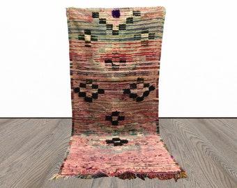 3x7 ft Morrocan Vintage Berber runner rug!