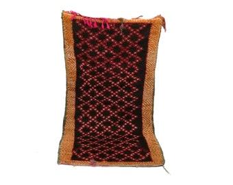Moroccan Vintage rug 3x5, morrocan Berber Azilal rug, Tribal Bohemian Moroccan Colorful Wool rug,  Vintage woven rugs Vintage Carpet