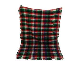 Moroccan Vintage Handira Blanket 5x6 ft, Berber wool blankets.
