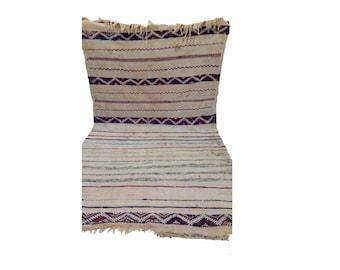 Moroccan berber vintage wool blanket, morrocan azilal boho woven blankets.