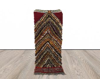 Moroccan shag runner rug, Berber shaggy runner rug, tribal runner rug 3x7, vintage rug runners, kitchen runner rug