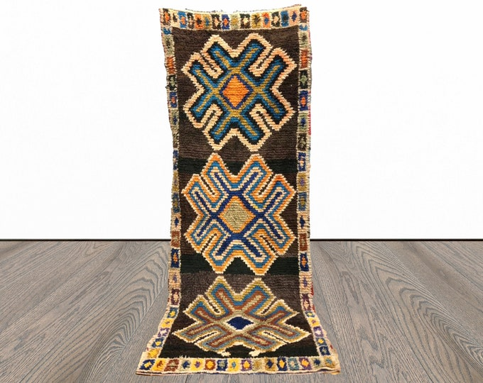 3x8 ft Morrocan Berber Vintage runner rug!