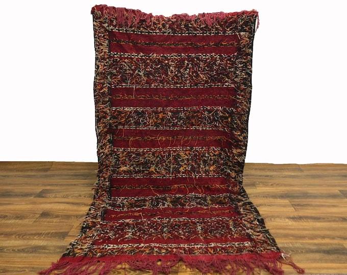 Moroccan Vintage Kilim rug! morrocan berber rugs 3x6 ft!