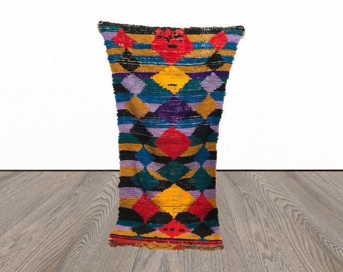 3x7 ft vintage Colorful Berber runner rug!