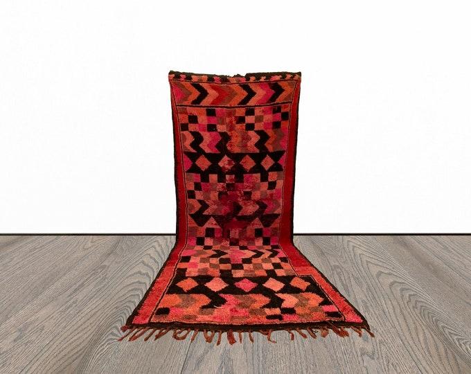 5x11 ft Moroccan vintage large area rug!