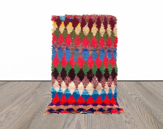 3x5 ft Moroccan colorful small rug!