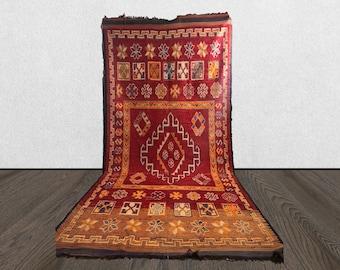 Xlarge moroccan red rug, 6x13 vintage rug, woven berber area rug, wool vintage area rug.