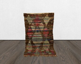 moroccan berber rug, 3x6 small area rug, woven berber rug, berber vintage rug.