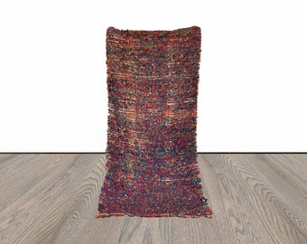 3x7 ft Moroccan Berber colorful rug!