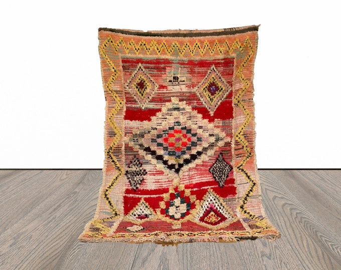 Colorful Berber Moroccan rug 5x8 ft!