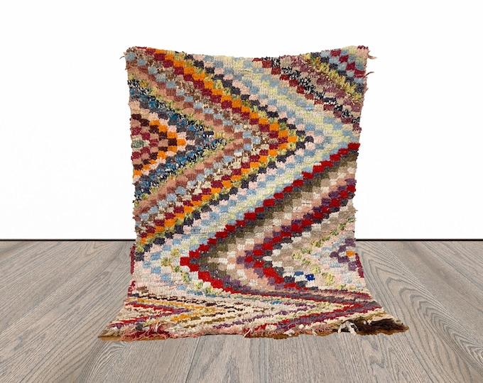 3x5 ft small boucherouite Moroccan rug!